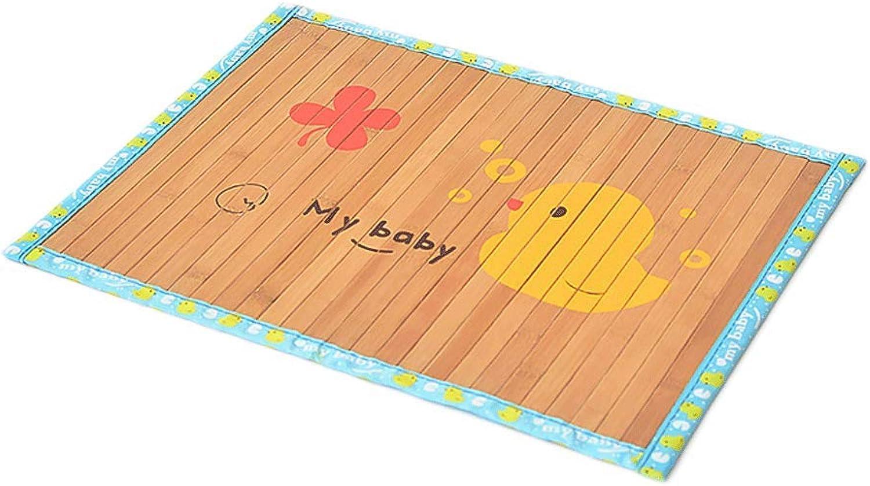Pet Cooling Mat, Dog Cat Bamboo Mat Summer Cooling Sleep Cool Pad