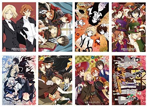 Bungou Stray Dogs Poster Anime Giapponese Poster Stampa artistica per la decorazione della parete, Set di 8 pezzi, 29,2 x 41,9 cm