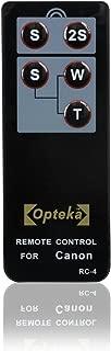 Opteka RC-4 Wireless Remote Control for Canon EOS Digital Rebel XT, XTi, XSi, T1i, T2i, T3i, T4i, 60D, 7D & 5D Mark II/III Digital SLR Cameras