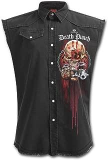 Five Finger Death Punch Assassin - Mens Stone Washed Denim Workers