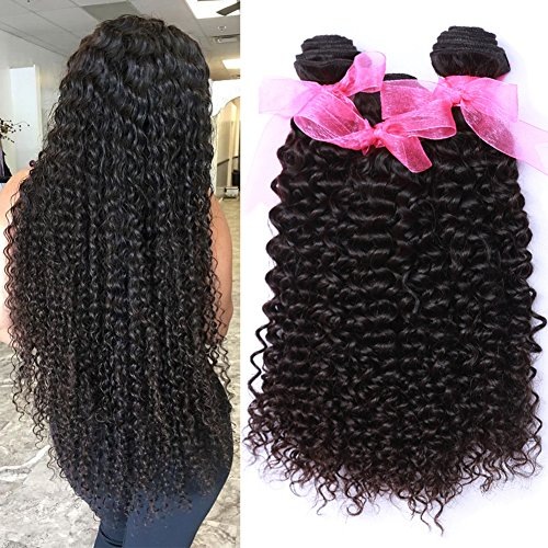 Missexy 10A Malaysian Kinky Curly Hair 3 Bundles 16 18 20 Inch Unprocessed Virgin Curly Human Hair Weaves Malaysian Deep Curly Hair Bundles Deals Natural Color 100g/piece