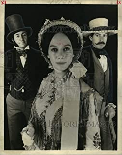 Historic Images - 1976 Press Photo Tom Conti, Francesca Annis and Dennis Lill in Madame Bovary.