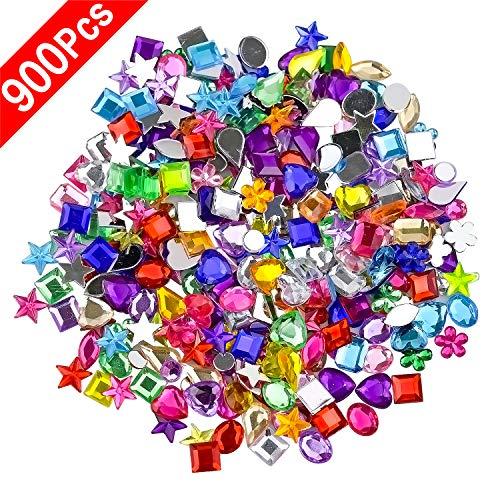 NATEE 900Pcs Craft Gems Jewels A...