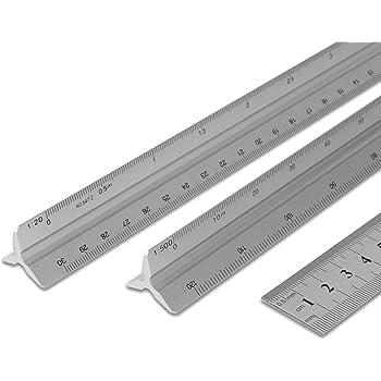 sacca protettiva 1:300 1:250 1:125//1:100 1:50 1:400 2 pezzi scala triangolare in alluminio 1:75 Righello in metallo 1:200 1:500 metrica per architetti e ingegneri: 1:20 1:100 1:25