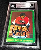 Bobby Taylor Signed 1973-74 O-pee-chee Flyers Rookie Card Beckett 00012520847 - Football Slabbed Autographed Rookie Cards. rookie card picture