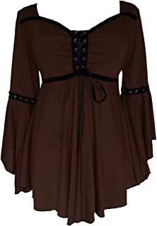Ophelia Corset Top: Victorian Gothic Medieval Women's Peasant Blouse for Everyday Halloween Cosplay Festivals