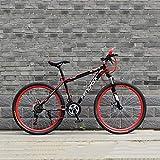 YXWJ Propósito General Mujer Hombre Bicicleta de montaña 24/26 Pulgadas de aleación de Aluminio de Alta de Carbono Marco de Acero de Asiento Ajustable ecológico Carretera de Bicicletas