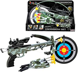 Liberty Imports Military Action Camouflage Kids Toy Crossbow Set - Includes Suction Cup Arrows and Target