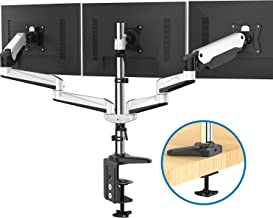 Triple Monitor Stand – Full Motion Articulating Aluminum Gas Spring Monitor Mount..