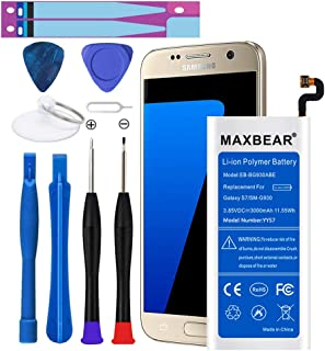 Galaxy S7 Battery,Upgraded MAXBEAR 3000mAh Li-Polymer Battery EB-BG930ABE Replacement for Samsung Galaxy S7 SM-G930 G930V G930A G930T G930P G930F with Screwdriver Tool.[12 Month Warranty]