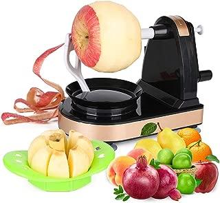 Apple Peeler Slicer Corer Vegetable and Fruit Peelers Slicer Automatic Hand Crank Ultra Sharp Stainless Steel Blades Fruit opener Peels Slicer Corer and Cuts in Seconds Peelers