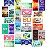 Sufficient quantity: you will receive a total of 80 pieces of assorted motivational cards with 20 different styles and inspirational quotes, 4 pieces for each style, sufficient quantity can meet your various daily needs, you can choose different styl...