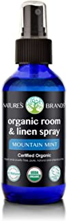 Organic Room & Linen Spray by Herbal Choice Mari (Mountain Mint, 4 Fl Oz Glass Bottle) - No Toxic Synthetic Chemicals