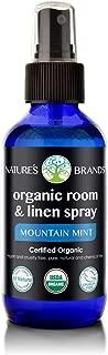 Organic Room & Linen Spray (Mountain Mint) by Herbal Choice Mari; 4floz Glass