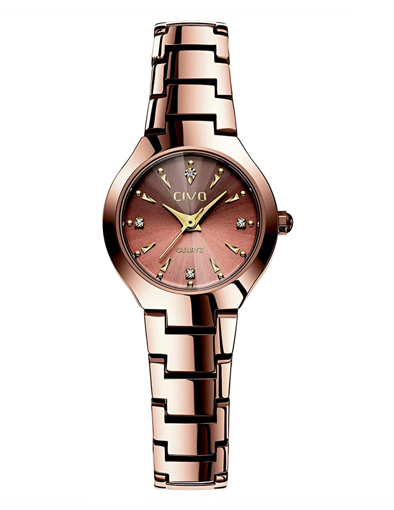 CIVO Women Watches Ladies Stainless Steel Watch Waterproof Luxury Fashion Elegant Watches for Woman Girls Business Dress Analogue Quartz Wrist Watch qknw7589337381