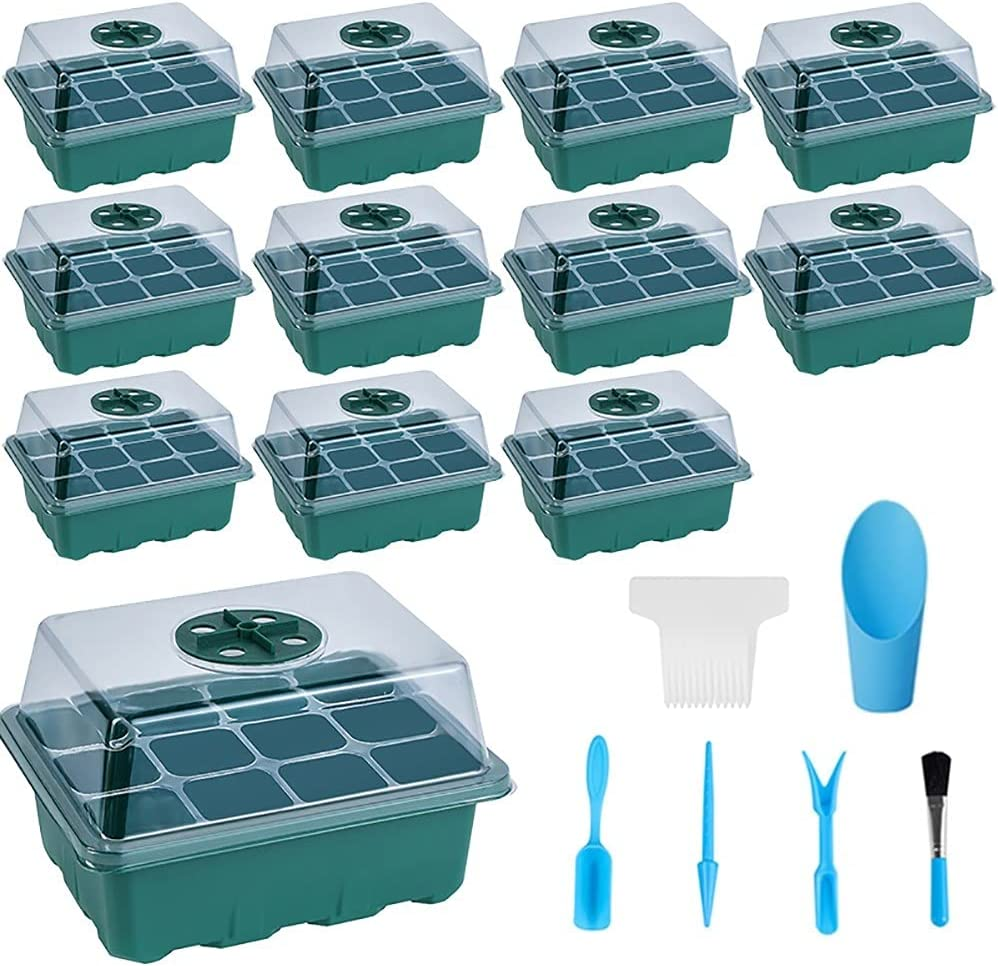 12 Pack Seed Starter Tray Kit Starting favorite with Clearance SALE! Limited time! Tools 144 Cell