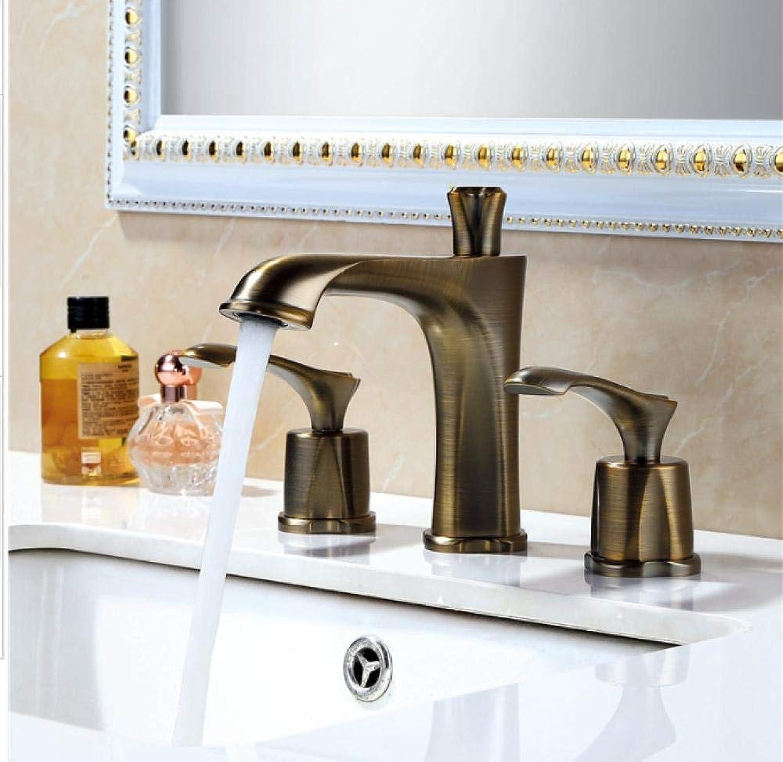 ROTOOY Wasserhahn Waschtischarmaturen 3-Loch Waschtischarmatur Split Waschtischarmatur 3-teilig Waschtischarmatur