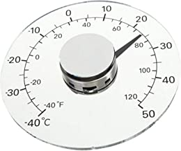 Termómetro Ventana Exterior, Monitor Temperatura Autoadhesivo Impermeable Sin Batería para Ventanas Y Puertas, Acrílico - 32 mm