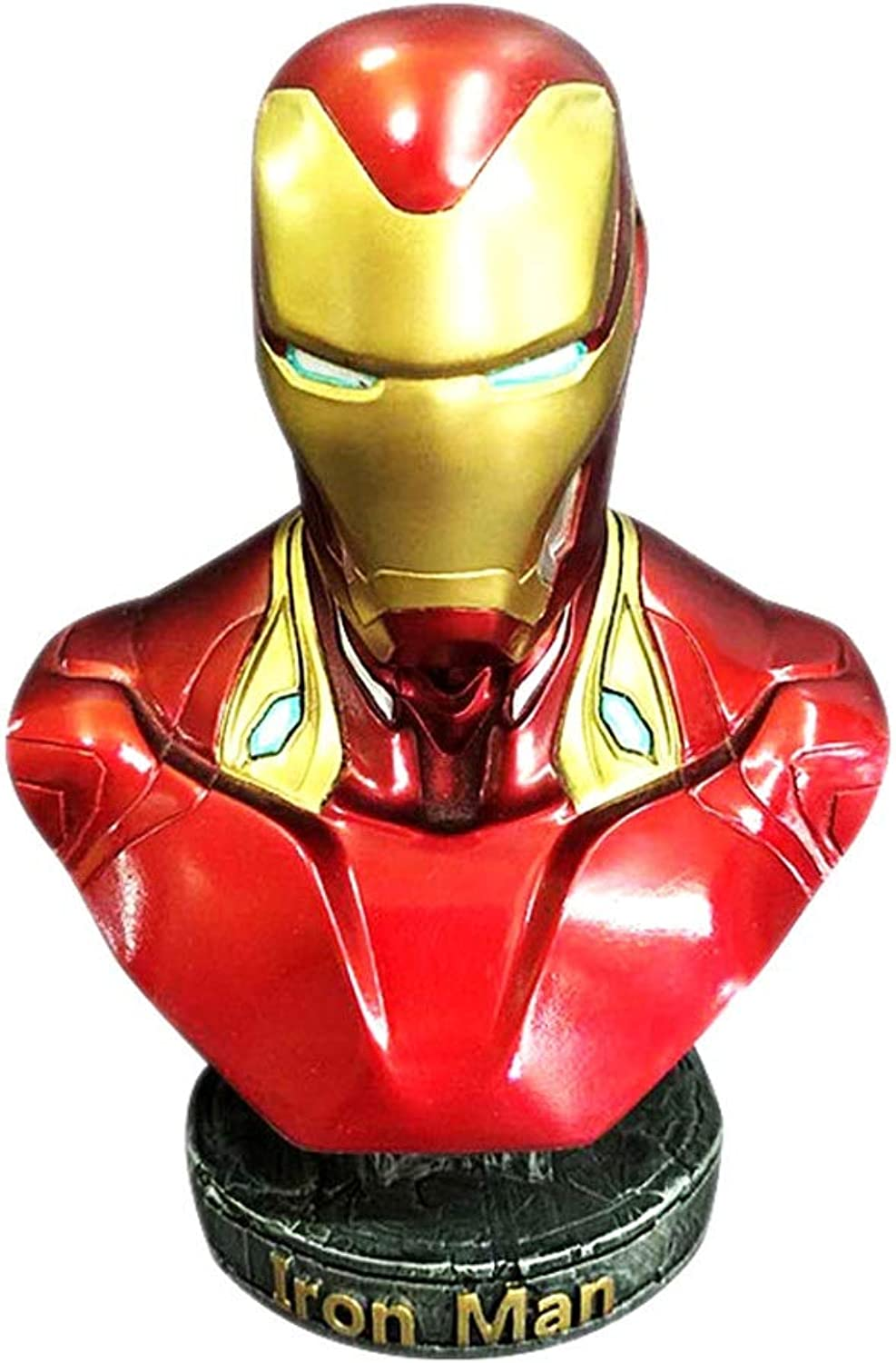 YIN YIN Actionfiguren Avengers Model Marvel Superheld Iron Man MK50 Büste Desktop Dekoration (18cm)