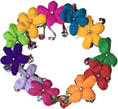 Flower Crown Crepe Paper Headband Halo With Ribbon Ponytail ideal for Festival, Wedding, Party, Costumes, Multiple Colors