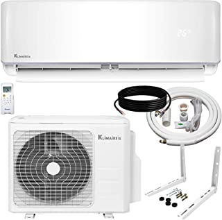 Klimaire 24,000 BTU KSIV 17 SEER Ductless Mini-Split Inverter Air Conditioner Heat Pump System with 15-ft Installation Kit 208/230V