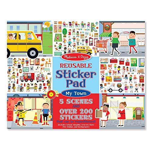 Price comparison product image Melissa & Doug Reusable Sticker Pad - My Town