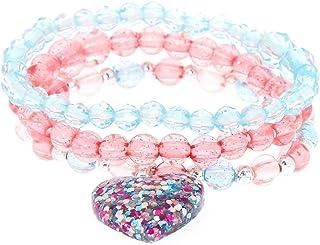 927062e35df5 Claire s Club Kids Glitter Heart Stretch Bracelets - 3 PackClaire s Club  Glitte