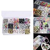 lzn 15 Farbe/1100 Stück Buchstabenperlen für fertigen Sie Namen auf Schnuller-Klipps gemischte Form DIY Acryl Alphabet-Korne