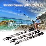 Nukana Télescopique en Fibre De Carbone Canne à Pêche Pêche Rétractable Kit Pole Voyage Pêche Rod