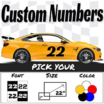 Race Rally Number # Circle Racing Sticker Decal door hood window 05 06 small car