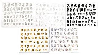 Muranba 10PCS Nail Art Stickers Letter Reflections Tape Adhesive Foils DIY Decoration