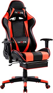 Ficmax Massage Gaming Chair Ergonomic Gamer Chair with Footrest Reclining Computer Gaming Chair Racing Style Home Office C...