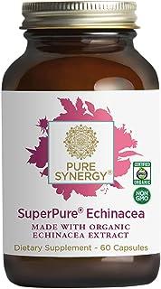 Pure Synergy USDA Organic SuperPure® Echinacea Extract (60 Capsules) Triple Extract w/Echinacea purpurea and Echinacea ang...