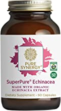 Pure Synergy SuperPure Echinacea Extract   60 Capsules   Made with Organic Ingredients   Non-GMO   Vegan   Triple Extract ...