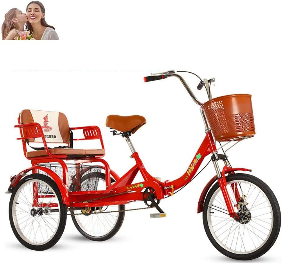 Tricycle Adult 20inch Elderly 3 Wheel Bicycle Parents Ch for 評判 and 低価格化