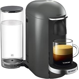Krups Vertuo Plus titane Machine expresso, Nespresso, Machine à café, Cafetière expresso, 5 tailles de tasses, 1,8L, Capsu...