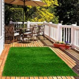 HEBE 1.38' Thick Artificial Grass Rug Turf Mat for Dogs Pets Realistic Indoor...