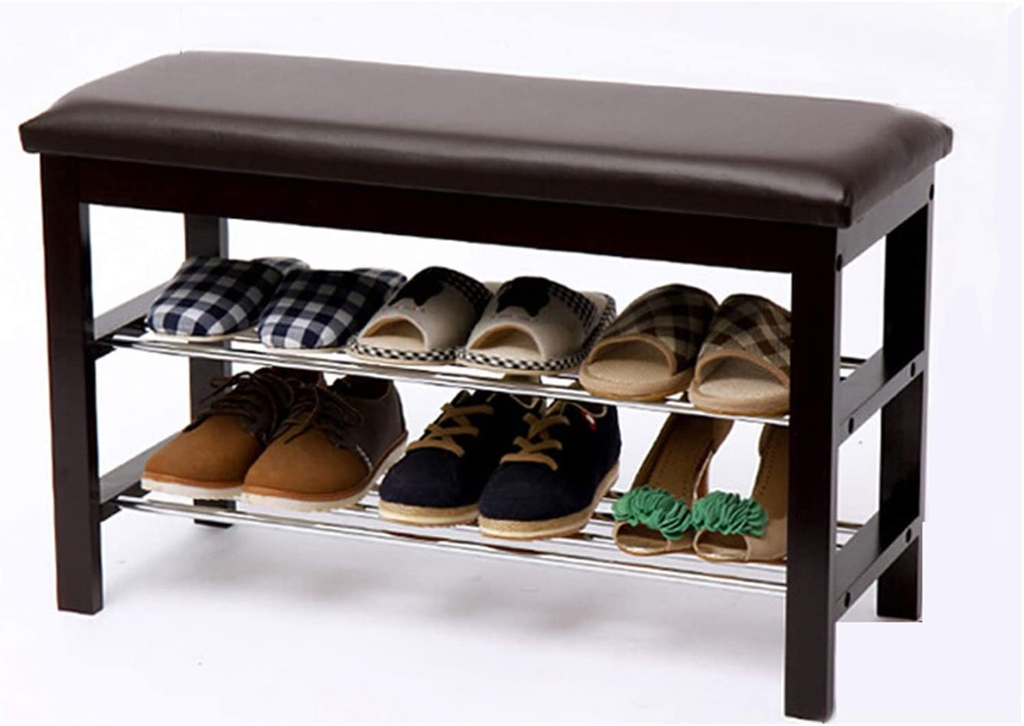 Shoe Rack Large special price !! Shelf Wooden Shoes with Fort Worth Mall Bench Racks Leather Cushi