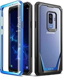 Galaxy S9 Plus Case, Poetic Guardian [Scratch Resistant Back] [360 Degree Protection] Full-Body Rugged Clear Hybrid Bumper Case with Built-in-Screen Protector for Samsung Galaxy S9 Plus Blue
