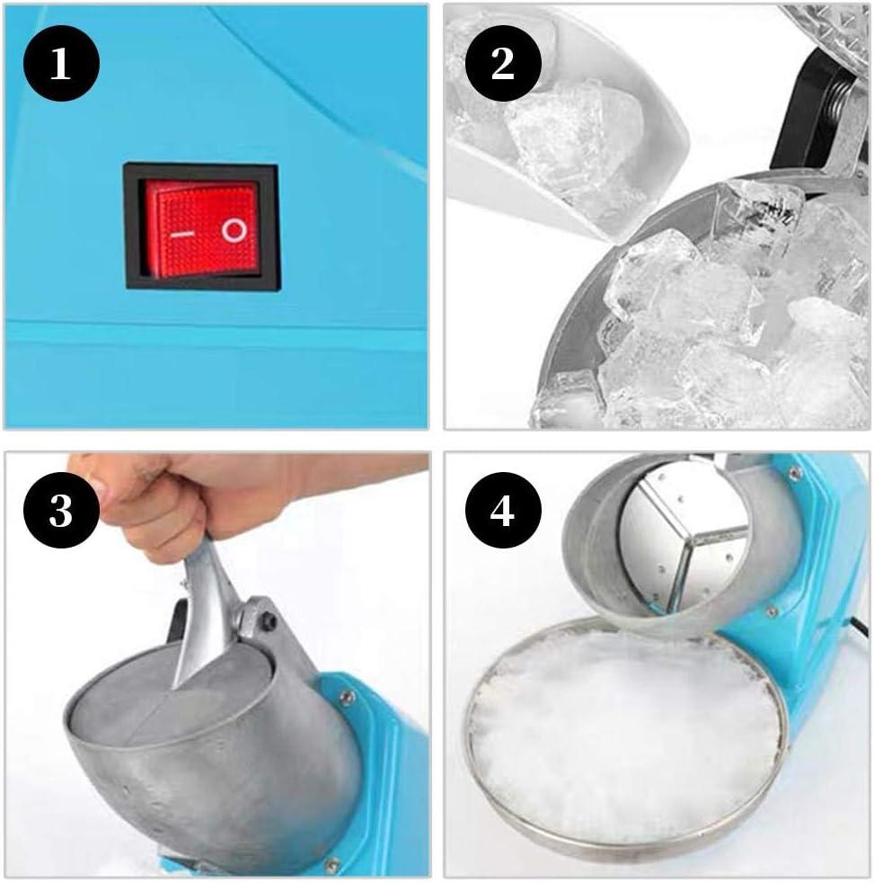 Elektrischer Eisbrecher Der Rasierten Eismaschine Eiscrusher Ice Crusher Crushed Ice Maker,Elektrische Schneekonusmaschine Der Eisrasiermaschine 380W