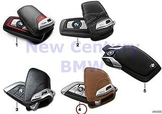 BMW Genuine Key Case Lines Key Case with Stainless-Steel Clip Saddle Brown X5 35dX X5 35i X5 35iX X5 40eX X5 50iX X6 35i X6 35iX X6 50iX X1 28iX X5 M X6 M 750iX 740i 740iX 750i 750iX