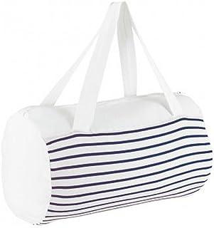 SOLS Sunset Striped Jersey Duffle Bag (UK Size: One Size) (White/Navy)