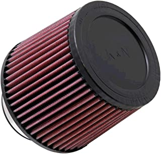 K&N RU-3580 Universal Clamp-On Air Filter: Round Tapered; 3 in (76 mm) Flange ID; 5 in (127 mm) Height; 6 in (152 mm) Base; 4 in (102 mm) Top
