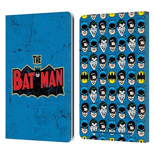 Head Case Designs - Funda de piel con tapa para Amazon Fire, diseño de Batman DC Comics, compatible con Compatibilité: Kindle Paperwhite 1 / 2 / 3