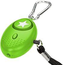 tiiwee zakalarm paniekalarm zelfbescherming 130dB met LED-licht - kleur Apple Green - Groen