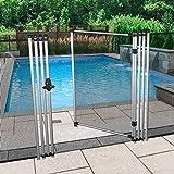 E&K Pool Fence Gate Mesh Net Safety Door Gate for Inground Pools Backyard Driveway Deck Garden Chicken Dog Fence Kennel Gate 6' Feet High