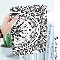 カスタム IPad 2 3 4 ケース オートスリープ機能手書き風アートイラスト航海イラストぬりえブックデザイン