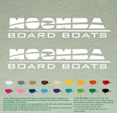 Pair of Moomba Boats Outboards Decals Vinyl Stickers Boat Outboard Motor Lot of 2 Made in USA. The pictures does not necessarily show actual size of the item, they are just for display please check the item size. This Design is Available in Bigger si...