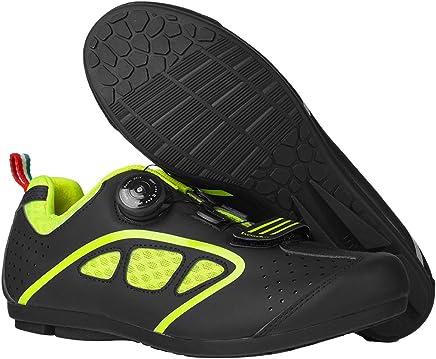 UB-BOODUN Zapatillas de Ciclismo para Hombre, Transpirables, con autobloqueo, para Bicicleta de Carretera, MTB Zapato