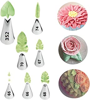 FantasyDay 7-piece Stainless Steel Piping Tips Piping Nozzles Cake Decorating Supplies Cookies Cupcake Icing Decorating Supplies Decorating Kits Frosting Icing Tips Baking Set Tools